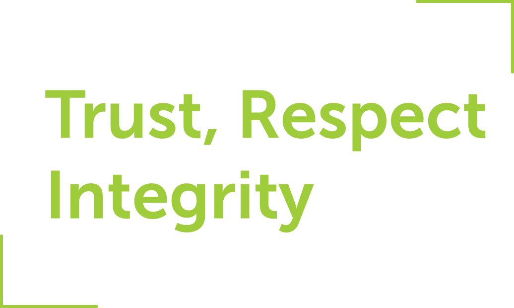 Trust, Respect, Integrity